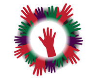 Icon with silhouettes of hands Royalty Free Stock Photos