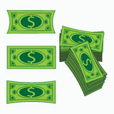 Icon simple American dollar. Concept business profit. A  an illustration on white it is easy to separate  background. Royalty Free Stock Photo