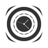 Icon of simple clock Stock Photography