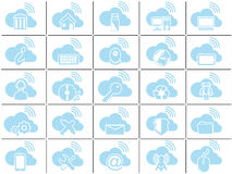 Icon simple cloud Stock Photos