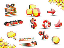 Icon simple sale Stock Photography