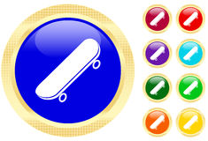 Icon of skateboard Royalty Free Stock Images