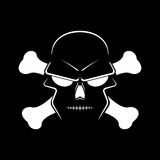 Icon skull and crossbones - a mark of the danger Stock Photos
