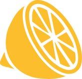 Icon of sliced lemon. Vector stock illustration