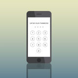 Icon Smart Phone Electronic Passcode Concept. Icon Smart Phone Mobile  Electronic Passcode Concept Royalty Free Stock Photography