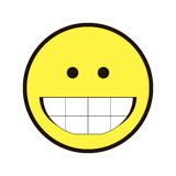 Icon smile Smiley yellow on a white background Royalty Free Stock Photo