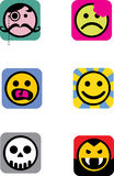 Icon smilies Stock Photography