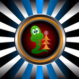 Icon of a snake Royalty Free Stock Photos