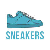 Icon sneakers. Vector  image of the shoe. Royalty Free Stock Photos