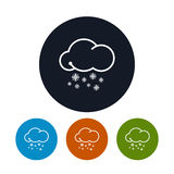 Icon snowfall ,   vector illustration Royalty Free Stock Image