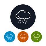 Icon snowfall ,   vector illustration Royalty Free Stock Image