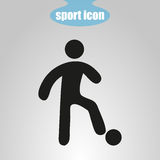 Icon of soccer player on a gray background. Vector illustration Stock Photography