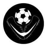 Icon of soccer Stock Image