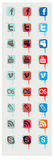 Icon of social networks Stock Photography