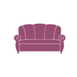 Icon sofa, vector. Royalty Free Stock Photo