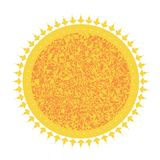 Icon solar circle with a pattern royalty free illustration
