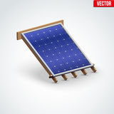 Icon Solar Panel Cover on Roof Royalty Free Stock Images