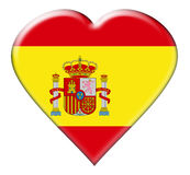 Icon of Spain flag Stock Images