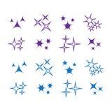 Icon sparkle line. Bright firework, decoration twinkle, shiny fl. Ash Stock Photography