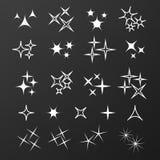 Icon sparkle line. Bright firework, decoration twinkle, shiny fl Royalty Free Stock Photos