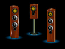 Icon speaker. Icon. Great loud speakers. Isolated on white Royalty Free Stock Image
