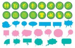Icon and speech bubble designs Stock Photos