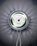 Icon speedometer or clock. EPS10 stock illustration