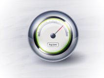 Icon speedometer or clock. EPS10 Stock Photography