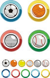 Icon - Sport ball. Internet the button in a sporting subject Royalty Free Stock Image