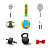 Icon of sports equipment Stock Images