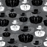 Icon spy, secret agent, Vector seamless background royalty free illustration