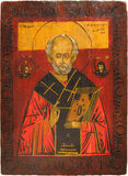 Icon of St. Nicholas. Royalty Free Stock Photos