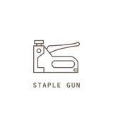 Icon staple gun. Stock Photography