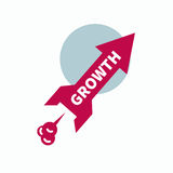Icon start up, growth Royalty Free Stock Photos