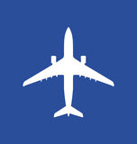Icon of an starting airplane Royalty Free Stock Image