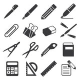 Icon stationary education Royalty Free Stock Photography