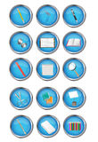Icon of stationery Stock Photos