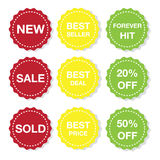 Icon Sticker. Illustration of different stickers icon for sale Royalty Free Stock Image