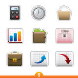 Icon sticker set - business royalty free illustration