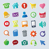 Icon Sticker Set for Poster, Web Site Royalty Free Stock Photo
