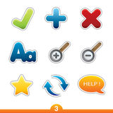 Icon sticker set - web universal Stock Images