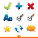 Icon sticker set - web universal Stock Images