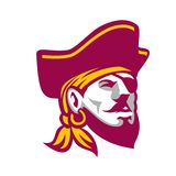 Buccaneer Wearing Tricorne Hat Icon Stock Images