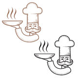 Icon stylish chef in the circuit Stock Photography