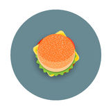 Icon of stylized hamburger -  top view. Vector EPS10 Stock Images