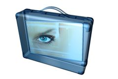 Icon - suitcase with image inside. Icon - illustration of a suitcase with an image inside Royalty Free Stock Photo