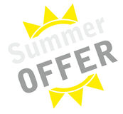 Icon summer offer Stock Image