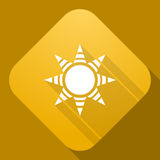 Icon of Sun with a long shadow Royalty Free Stock Photo