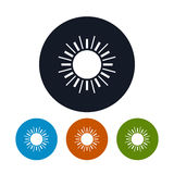 Icon sun with rays , vector illustration Stock Image