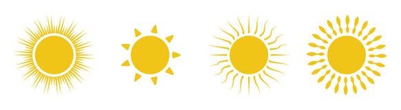 Icon sun set stock illustration